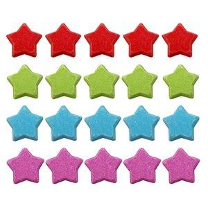 Zimpli Gifts Lot de 20 bombes de bain en forme d'étoile hydratantes pour la peau sèche, faites à la main, convient aux végétaliens et sans cruauté envers les animaux