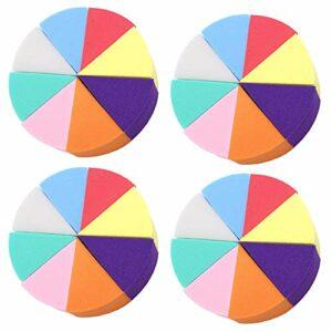 Ziyero 32 Pcs Outil Triangle Fondation Beauté Mini Nail Art Éponges Éponge Douce Cosmétique en Forme Pour Fond de Teint, Poudre Libre, Poudre de Fard à Paupières, Fond de Teint Liquide, Crème BB, Etc