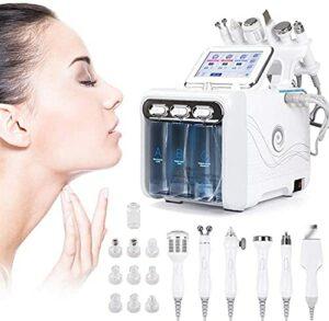 ZYDAN Machine de beauté de la Peau d'oxygène d'oxygène d'hydrogène, 6 en 1 Machine de Soin de la Peau, Spa de Machine hydrofaciaire, équipement de beauté faciale pour Salon de beauté 825