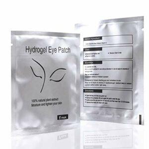 50 Paire Patch Extension Cils Patch non pelucheux sous les yeux gel correctifs outil de beauté pour Extension de cils individuels