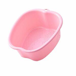 Alycwint Bain de Pied Grand Bassin de Spa,Bassine Plastique Pour PéDicure DéTox et Massage Pieds, éPais et Robuste Bassine Pied Parfait Pour Tremper Les Pieds (Pink)