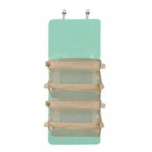 Anself Trousse de toilette de maquillage 4 en 1 Trousse de toilette portable de grande capacité, organisateur de rangement pliable, trousse de maquillage de voyage pour accessoires, shampoing