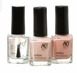 Art 2C – Colour Innovation Lot de 3vernis à ongles à finition classique, 3x12ml, 3couleurs Nude