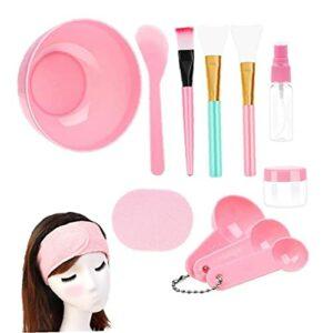 Bol de mélange de cache-visage facial avec 12 pcs beauté beauté crème spatule stick brosse beauté bricolage outils