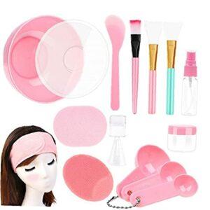 Bol de mélange de cache-visage facial avec 15pcs beauté beauté crème spatule Stick Stick brosse Beauty DIY Outils