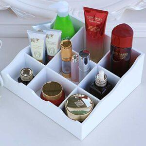 BOR Articles ménagers, boîte de Rangement de cosmétiques en Bois, Table de Toilette de Bureau, Produits de Soins de la Peau, boîte de Finition,White