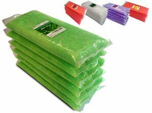 Boston Tech BE106-A Cire de paraffine pure 3 kg, 6 blocs de 500g C / u. Idéal pour tout bain à la paraffine. Usage thérapeutique et esthétique. Arôme d'Aloe Vera