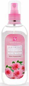 Brume d'eau de rose de Damas 100% naturelle 200ml, Spray tonique hydratant visage corps et cheveux à l'eau de rose, Brume d'hydrolat apaisante pour le visage à la rose