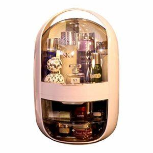 Coffret Maquillage Étagère cosmétiques boîte de Rangement, Table de Toilette, étagère de Soins de la Peau Rouge à lèvres, Produit de Soin de la Peau, tiroir de la Cuisine (Rose) Professionnel