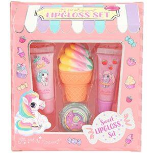 Depesche 11536 Ylvi Gloss à lèvres style Candy-Shop, rouge à lèvres parfumé parfum pomme, cola et fraise