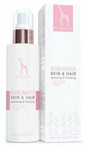 Eau de Rose – 100% NATUREL et VEGAN – Sans Additifs Artificiels – 200 ml – Hydratant Naturel pour la Peau et les Cheveux – Parfaite comme Tonique pour le Visage