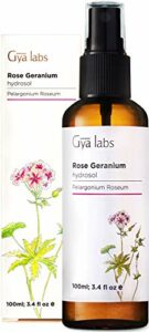 Eau florale de rose géranium – 100% d'hydrolat pur à vaporiser pour le visage, le toner pour le visage, l'acné, le corps, le linge de maison et la chambre – 100ml
