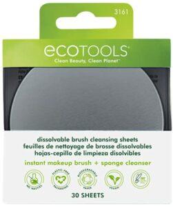 Ecotools Feuilles de nettoyage pour pinceaux de maquillage dissolvables