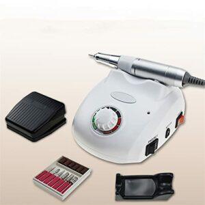 EJKXIS Machine à Ongles électrique Polisseuse à Ongles for manucure Outils de pédicure Machine à Ongles Professionnels File à Ongles (Color : White)