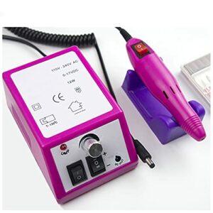 EJKXIS Machine de manucure 45W Moteur intégré avec 6 * Fraises de fraisage for éliminer Les Ongles de Vernis Gel Accessoires (Color : Violet, Size : EU)