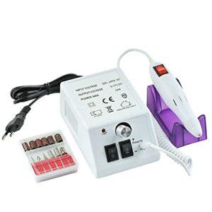 EJKXIS Manucure électrique perceuse Polissage Pincer Ongles Machine de Machine à Ongles ponctuelle ponctuelle électrique Ongles Ongles vernisseur Ongles Nail Art (Color : EU White, Size : 1)