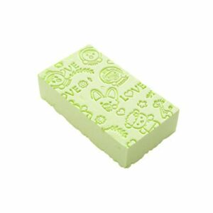 Éponge de bain Dentelle Imprimé Gommage Douche Bébé Bain Épurateur Exfoliant Beauté Soins de La Peau Éponge Nettoyage Du Visage Spa Balle De Bain 1 pc, Vert