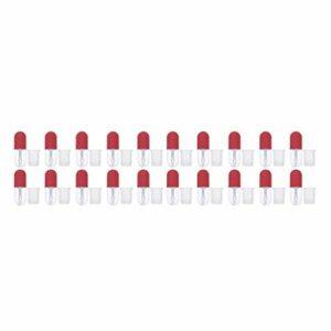 EXCEART Vide Lip Gloss Tube Mini Givré Rechargeable Contenant de Baume à Lèvres Brillant À Lèvres Bouteilles pour Le BRICOLAGE