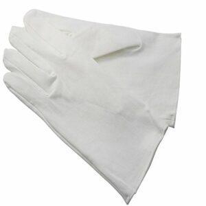 Gants blancs coton dermatologiques et soins des mains. (7)