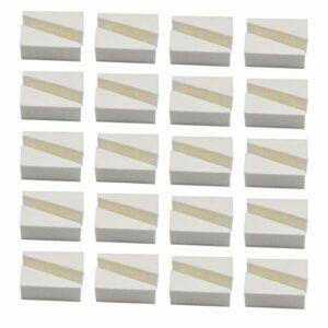 HQdeal 40 Pièces éponges à maquillage en forme de triangle, Ensemble d'Éponge de Visage, éponge à triangle pour Fond de Teint Poudre Crème liquide, Sans Latex et Hypoallergéniques