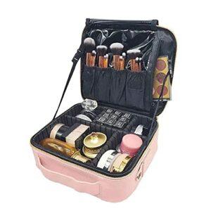 HRTX Trousse De Maquillage Portable,Trousse De Toilette pour Voyager,Voyage Pouch Make Up Organiseur avec Cloisons Pochettes Cosmétique,41cm X 29cm X 11cm