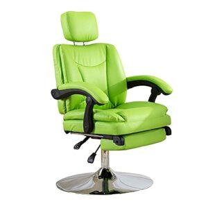 HUAYIN Salon Beauty Styling Chair, 360 Rotation Barber Chair   Équipement de Salon de beauté de Spa d'extensions de Cils de Tatouage pour l'épilation de beauté de Style de Coupe de Cheveux,Vert