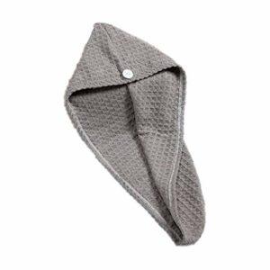 huiingwen Serviette de douche en forme de triangle – Super absorbante – Pour cheveux secs – Bonnet de bain – Pour séchage rapide – Article de toilette