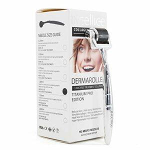 INCELLICE Derma Roller, Aiguilles en titane Soins de la peau pour la repousse des cheveux Rides, Anti-âge Régénération des cellules 1.5mm 192