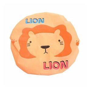 JBNWY Bonnet de douche, bonnet de bain, bonnet de bain, hôtel, extensible, articles de toilette (couleur : lion)