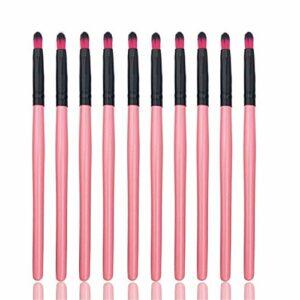 Jetable, commodité 50pcs pinceaux à lèvres brillant à lèvres gloss baguettes applicateur maquillage outils mode conçu pinceaux de maquillage ensemble Pinceaux à lèvres (Color : Pink Black)