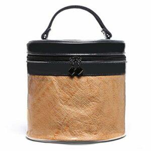 JiuErDP Trousse de Toilette▏Sac de Lavage for Les Soins de la Peau imperméablesSac à Main Portable de Maquillage beauté Cas cosmétique (Color : Brown, Size : 19X18X18.5cm)