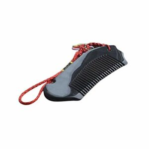 Kits de coupe de cheveux Fashian Buffalo naturel peigne en corne poisson forme délicate avec noeud chinois Artesanat Pour couper les cheveux