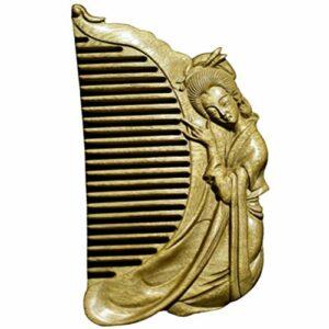 Kits de coupe de cheveux Fashian peigne Lady sculpté à la main/peigne en ébène peut envoyer des mères et des amis Pour couper les cheveux (Color : Wood)