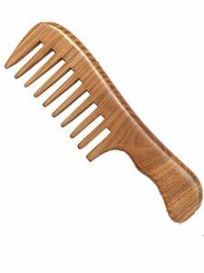 Kits de coupe de cheveux Green Natural Wooden Pas de peigne de sandal de santal statique Pour couper les cheveux