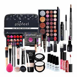 Lingge Kit de Maquillage pour Femme Kit Complet Ensemble de Maquillage Polyvalent avec Brillant à lèvres Blush Brush Fard à paupières Kit de Maquillage correcteur Ensemble de Maquillage Nearby