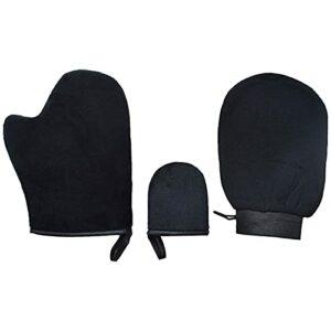 Lot de 3 mini gants de bronzage réutilisables pour soins des ongles