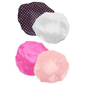 Lot de 4 bonnets de douche élastiques style 3 pour femme