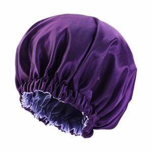 Lurrose Bonnet élastique pour femme avec bonnet de sommeil long pour cheveux ajustables