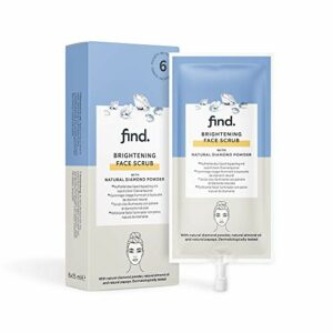 Marque Amazon – find. Gommage pour le visage au diamant – 6 paquets de 15 ml