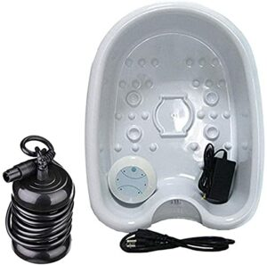 MTYQE Machine portative de Spa de Bain de Pieds de désintoxication ionique, Bassin de Baignoire de Massage pour Le Spa de Salon de beauté à la Maison, adapté aux familles