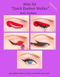 ORIGINAL Quick Eyeliner Stickies MINI SET 24 pcs. Pochoirs de maquillage pour les yeux