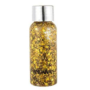 Paillettes liquide fard à paupières maquillage brillant maquillage crème de maquillage festival décor jaune