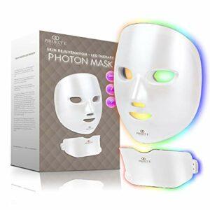 Project E Beauty Appareil de rajeunissement de la peau pour le visage et le cou   Traitement à la lumière sans fil 7 couleurs éclairant le dispositif de soins de la peau