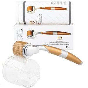 Rouleau Micro – Cutané, 192 Rouleau Micro – Cutané Aiguille Rouleau Micro – Cutané Professionnel Aiguille Micro – Cutanée Trousse de Soins de la Peau Rides Faciales Alopécie Vergeture (0,25 mm)