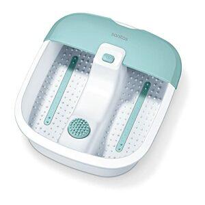 Sanitas SFB 07 Bain de pieds, massage par vibrations et à bulles, réflexologie plantaire, contrôle de la température de l'eau, pour la relaxation des pieds fatigués