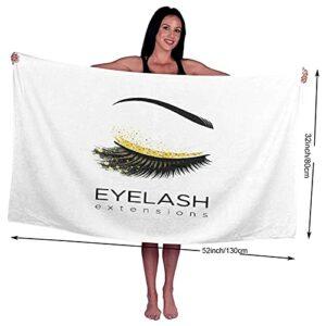 Serviettes de bain, maquillage d'extension de cils dans un cosmétique moderne pour les sourcils de beauté des yeux, serviette 100% fibre superfine à séchage rapide hautement absorbante pour un usage q