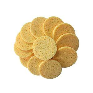 shengyuan 50pcs Bois Naturel Pulpe Pulpe Facial Lavage Sponges Cellulose Compressez Cosmétique Face Face Soins Planification de la Maquillage Outils 70 ×8mm (Color : Yellow)