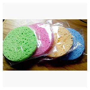 shengyuan SHINBAY 100PCS Pâte à Bois Naturel Sponge de pulpe à Bois for Laver Papl purificateur de Nettoyage Facial Visage Soin de la Cellulose éponge Flexible Nettoyeur