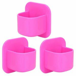 Support d'éponge de maquillage, support de houppette de poudre cosmétique de séchage 3pcs, pour des bouffées pour des rouges à lèvres(rose rouge)