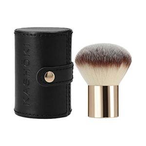 T4B KASHOKI 200 Pinceau A Maquillage Kabuki Pour Poudre Poils En Taklon Avec Etui Pratique 1 Pièce